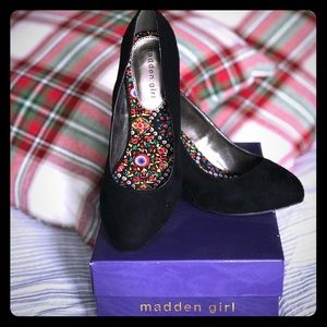Madden Girl Black Suede Heel 3.5